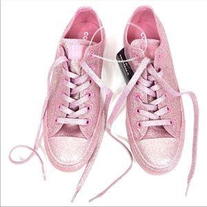 Converse Pink Glitter Shoes Womens Size 8 Chucks